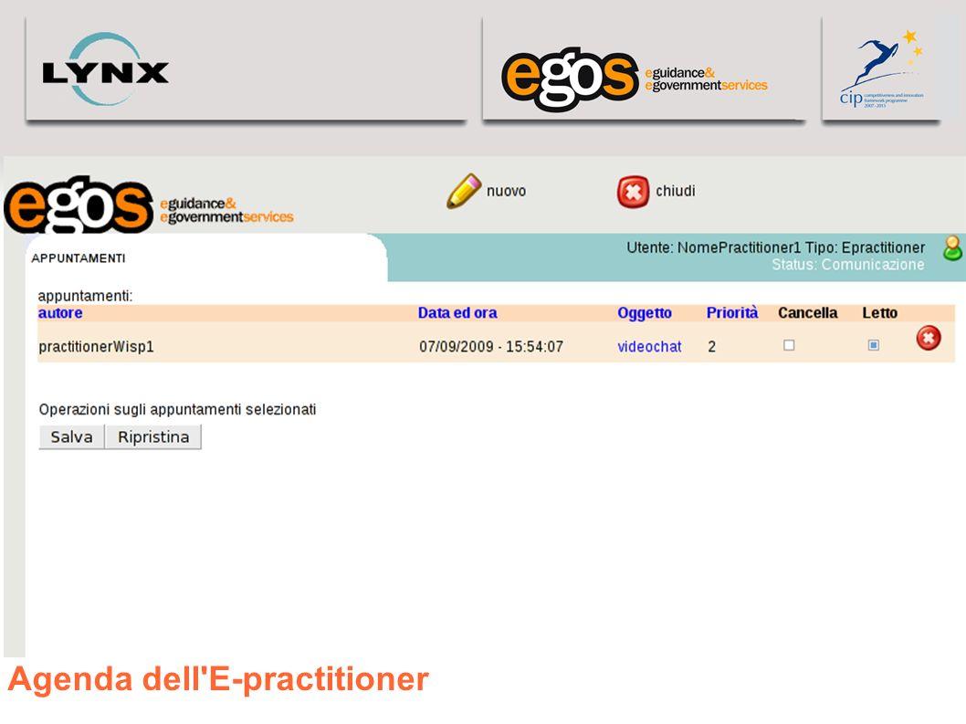 Agenda dell'E-practitioner