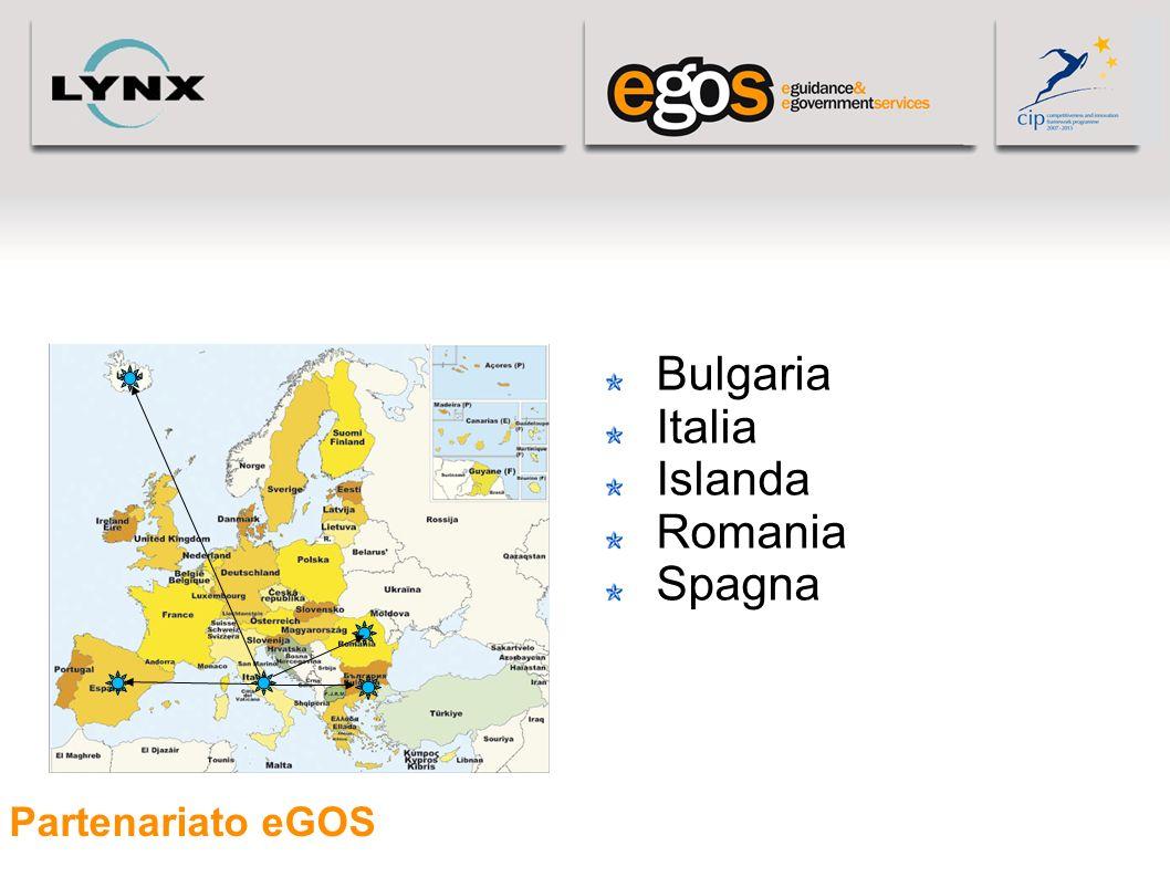 Partenariato eGOS Bulgaria Italia Islanda Romania Spagna