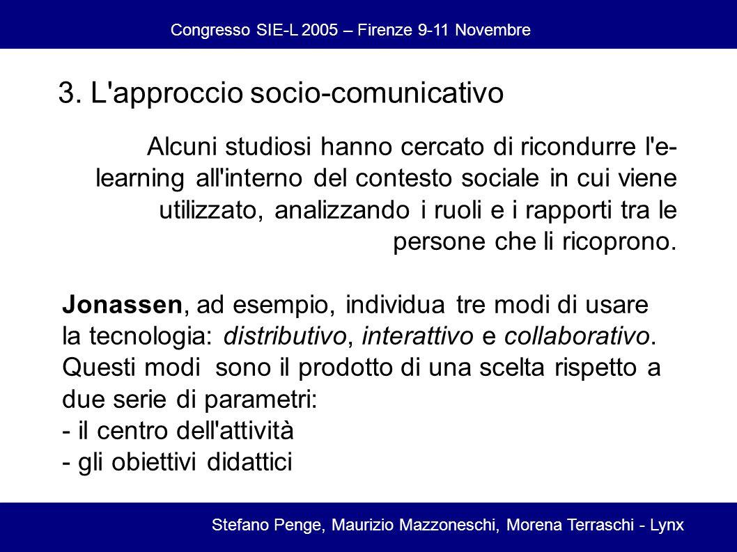 Congresso SIE-L 2005 – Firenze 9-11 Novembre Stefano Penge, Maurizio Mazzoneschi, Morena Terraschi - Lynx 3.