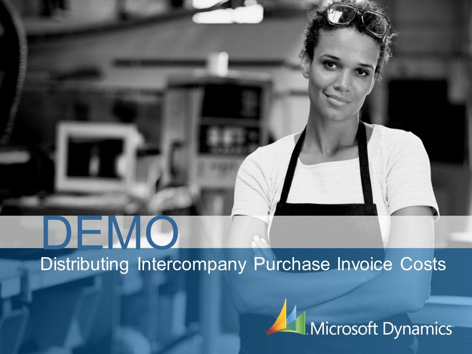Distributing Intercompany Purchase Invoice Costs DEMO