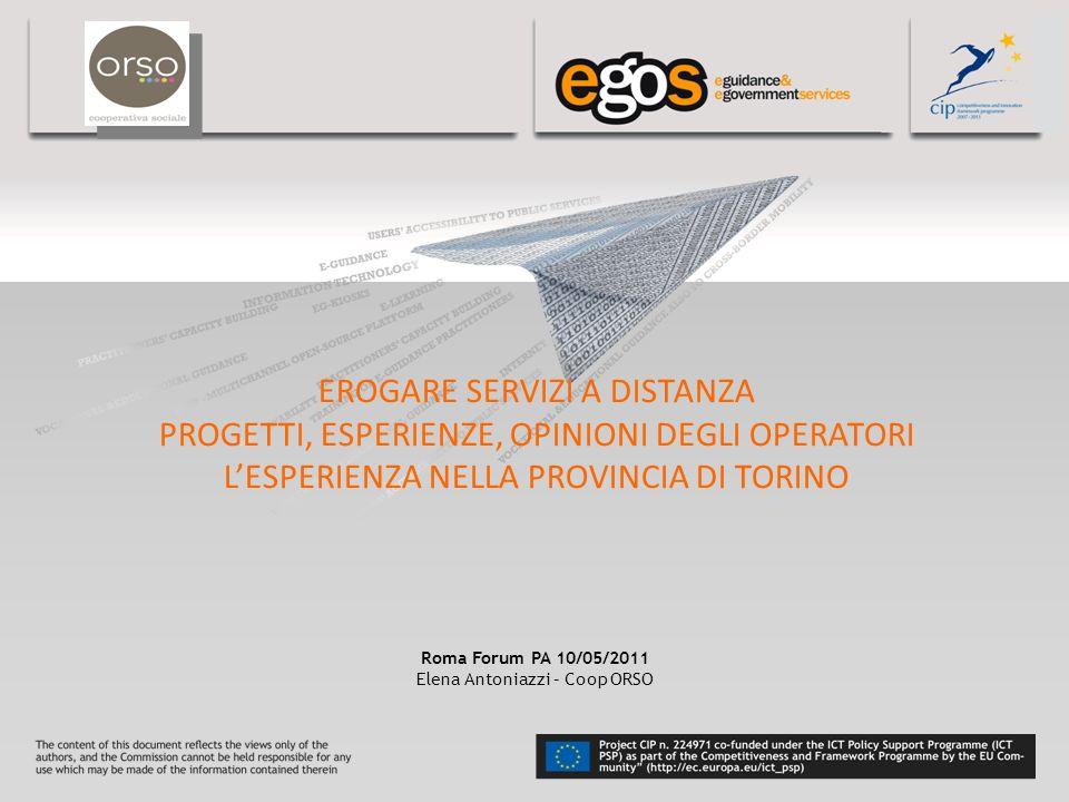 YOUR LOGO HERE IL CONTESTO La sperimentazione di eGOS nella Provincia di Torino coinvolge nello specifico le città di Venaria Reale e di Settimo To.se con una popolazione complessiva di circa 70.000 abitanti.