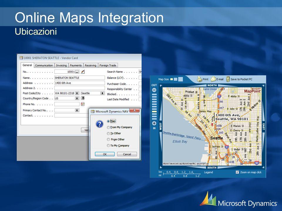 Online Maps Integration Ubicazioni