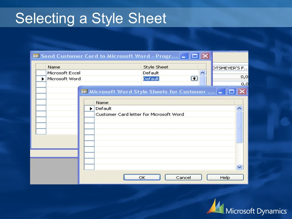 Selecting a Style Sheet