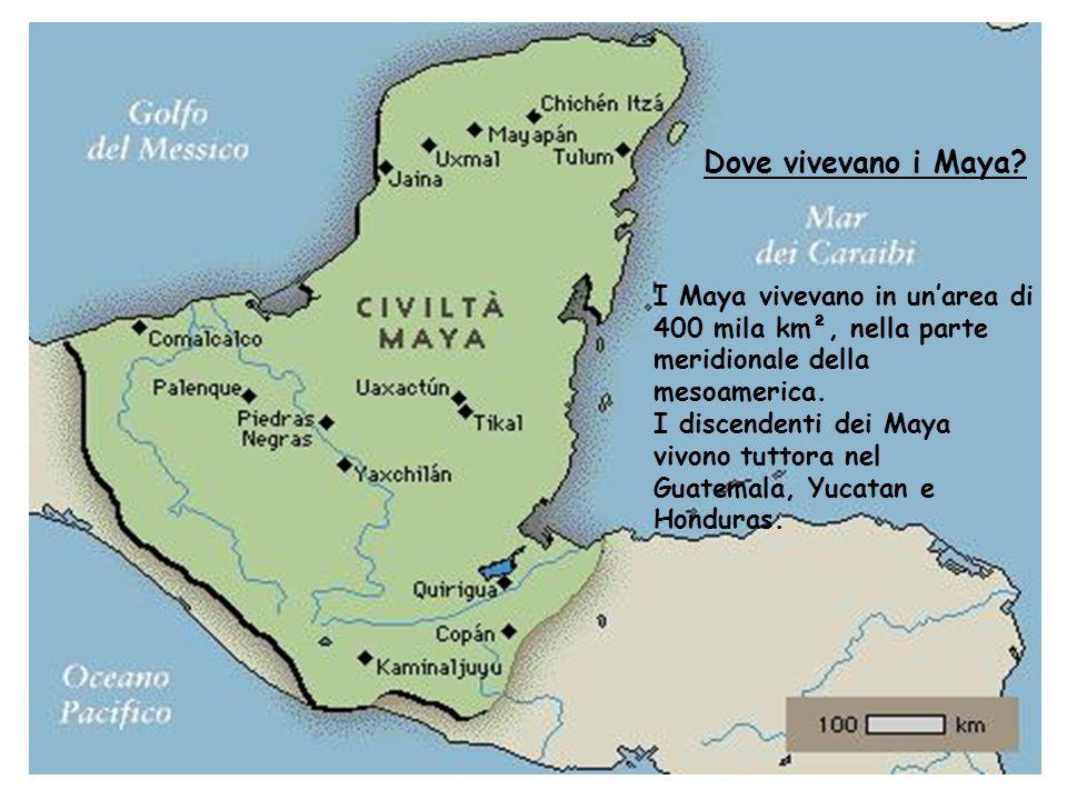 Dove vivevano i Maya.