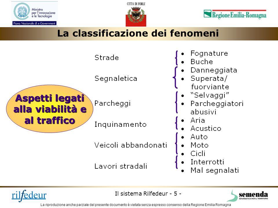 La riproduzione anche parziale del presente documento è vietata senza espresso consenso della Regione Emilia Romagna Il sistema Rilfedeur - 5 - Aspett