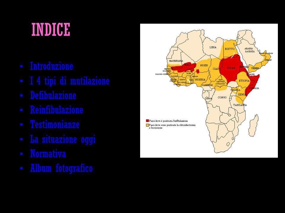 INTRODUZIONE Ogni anno in Africa e non solo, circa 2 milioni di bambine e adolescenti subiscono una qualche forma di mutilazione dei genitali (oltre ai 100-132 milioni di donne).