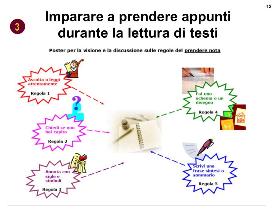 Revisione curricolo verticale 12 Maurizio Gentile - Feb.08 Imparare a prendere appunti durante la lettura di testi 3