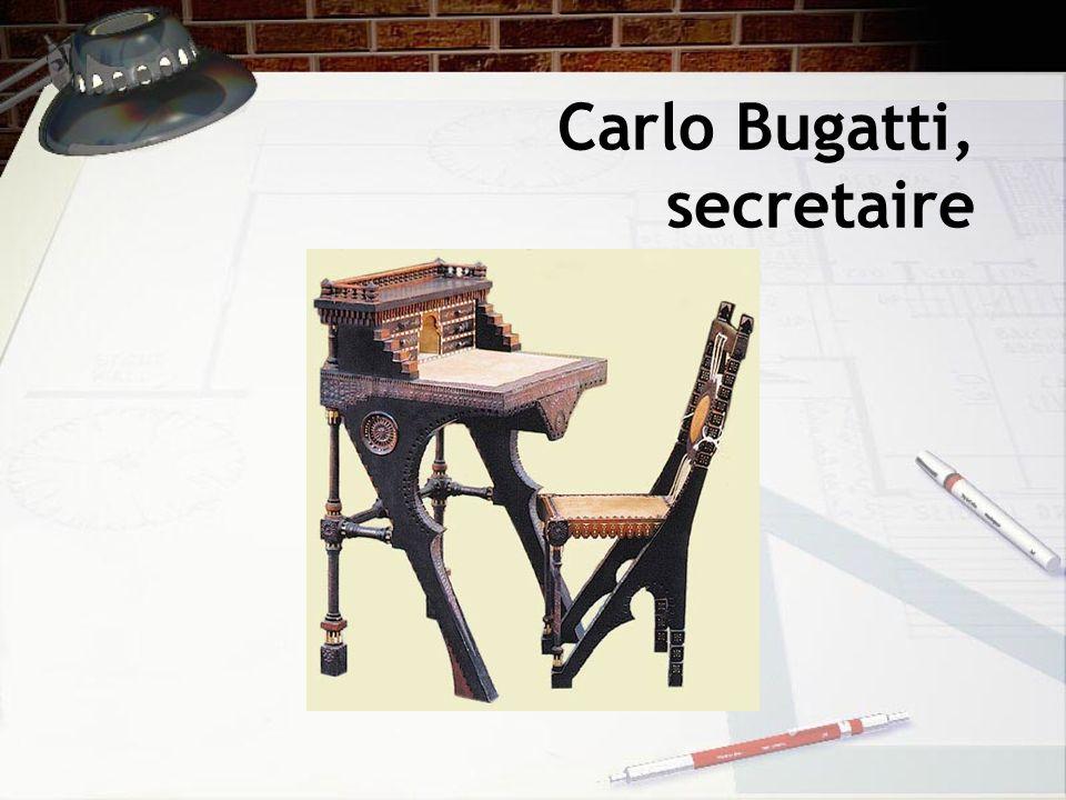 Carlo Bugatti, secretaire