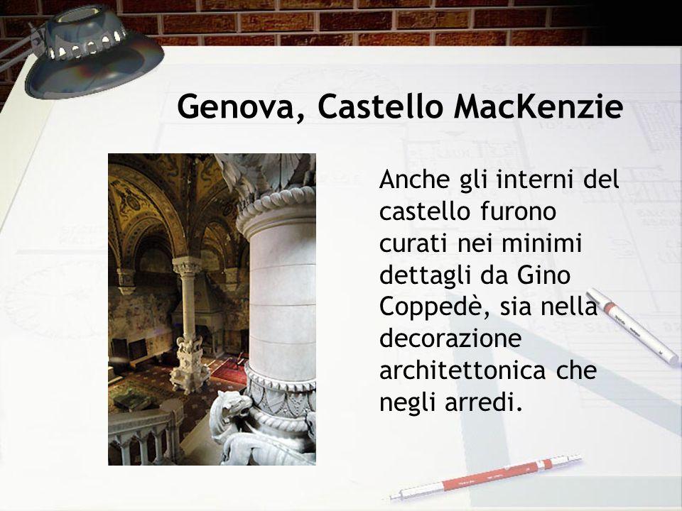Genova, Castello MacKenzie Anche gli interni del castello furono curati nei minimi dettagli da Gino Coppedè, sia nella decorazione architettonica che
