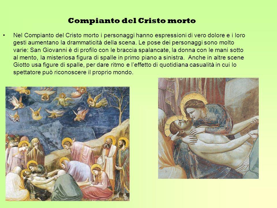 Compianto del Cristo morto Nel Compianto del Cristo morto i personaggi hanno espressioni di vero dolore e i loro gesti aumentano la drammaticità della