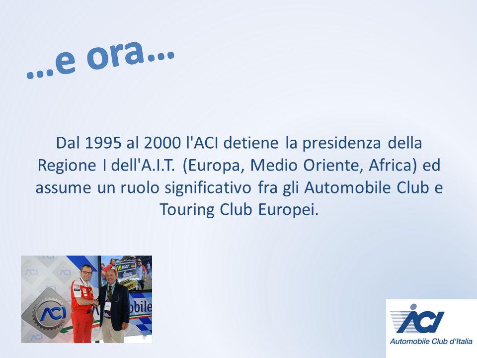 Dal 1995 al 2000 l ACI detiene la presidenza della Regione I dell A.I.T.