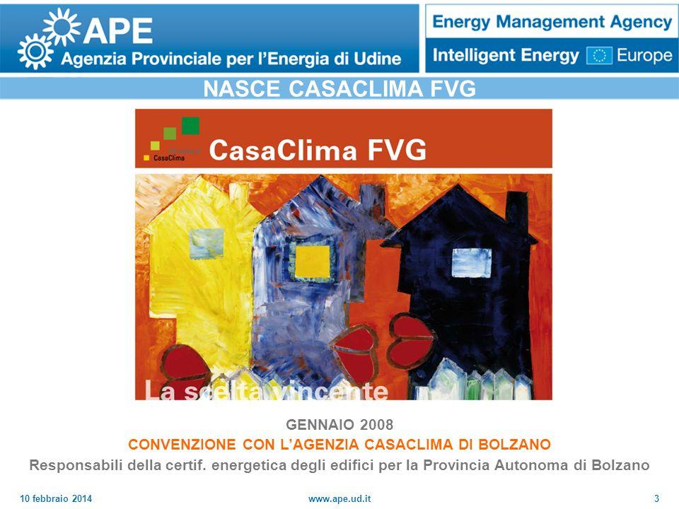 10 febbraio 2014www.ape.ud.it4 CASACLIMA FVG: QUALI OBIETTIVI.