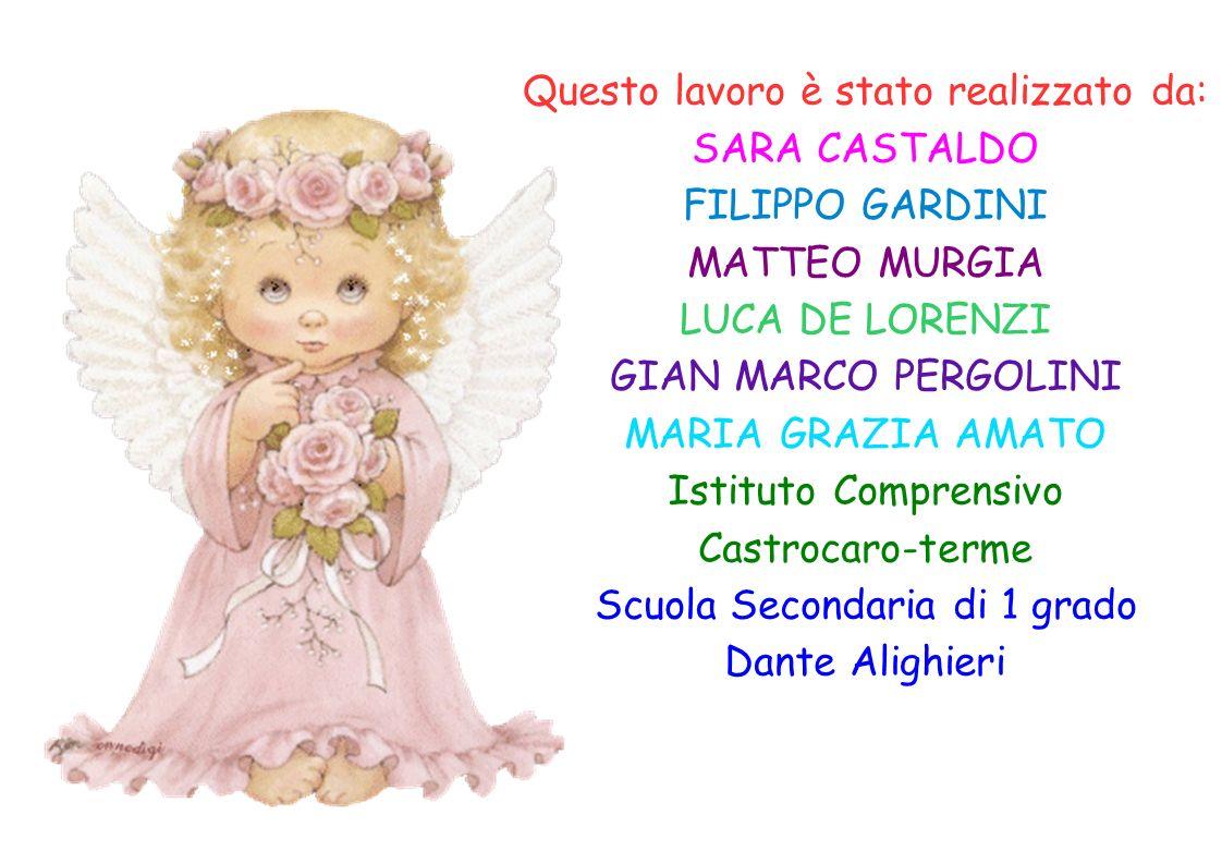 Questo lavoro è stato realizzato da: SARA CASTALDO FILIPPO GARDINI MATTEO MURGIA LUCA DE LORENZI GIAN MARCO PERGOLINI MARIA GRAZIA AMATO Istituto Comp