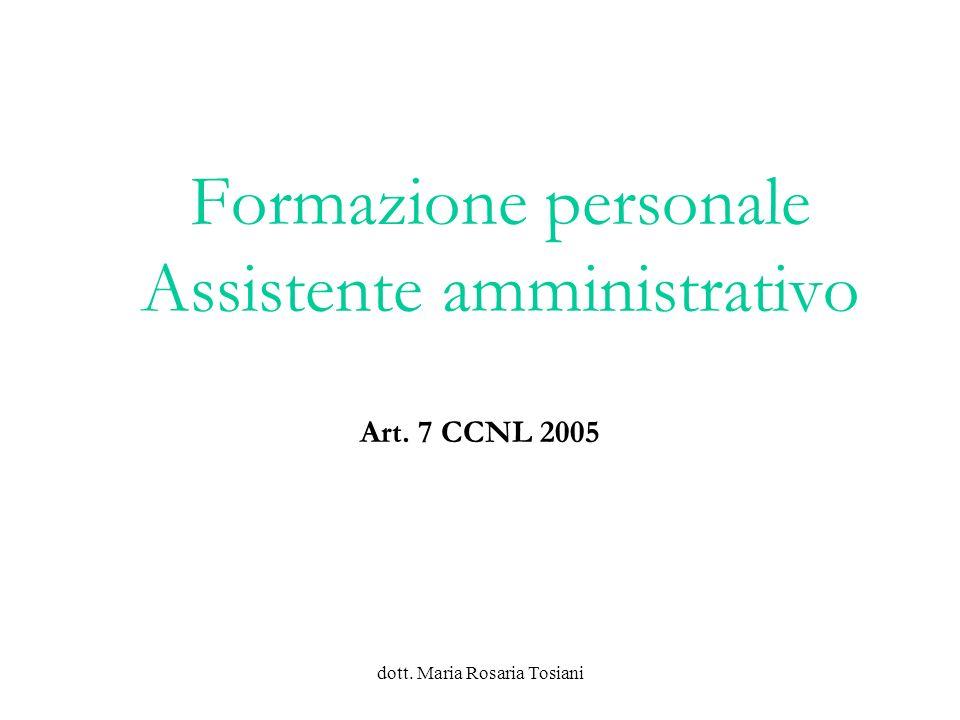 dott. Maria Rosaria Tosiani IL PROGRAMMA ANNUALE ALCUNI CONCETTI FONDAMENTALI