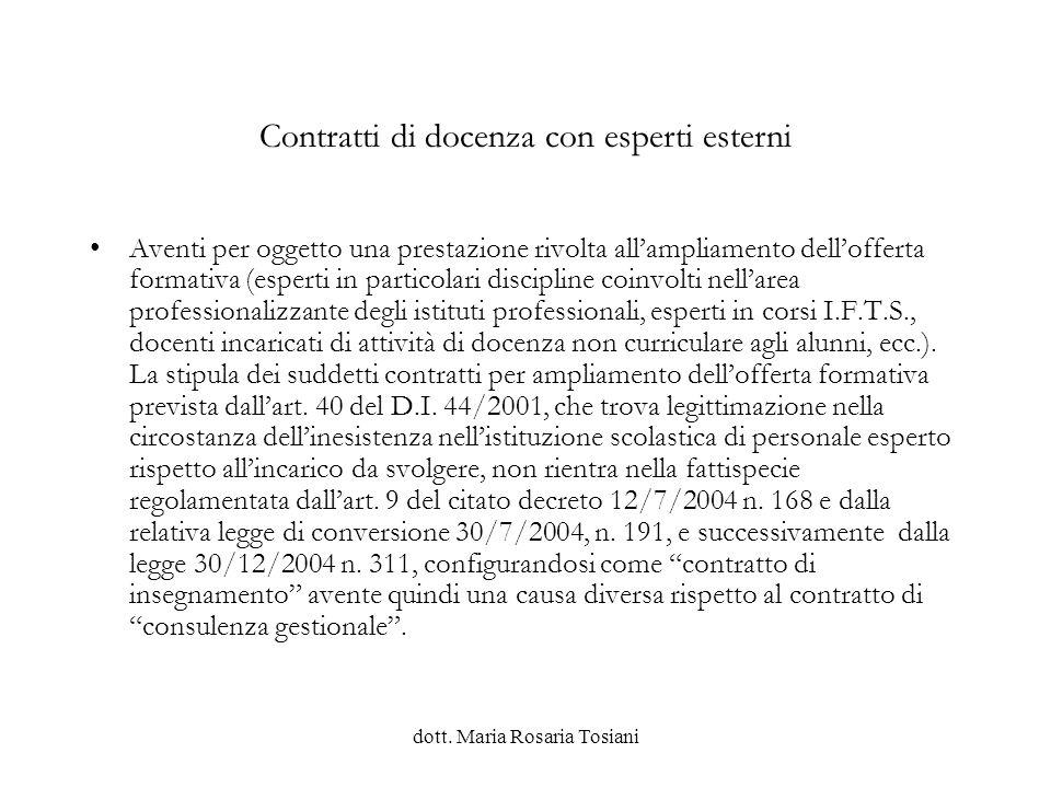 dott.Maria Rosaria Tosiani Attività di formazione Lart.