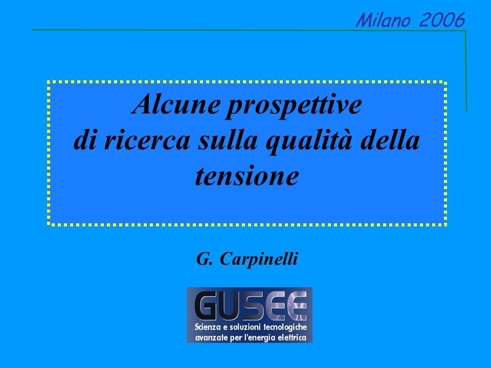 Alcune prospettive di ricerca sulla qualità della tensione G. Carpinelli Milano 2006
