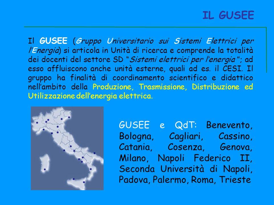 IL GUSEE Il GUSEE (Gruppo Universitario sui Sistemi Elettrici per lEnergia) si articola in Unità di ricerca e comprende la totalità dei docenti del settore SD Sistemi elettrici per lenergia ; ad esso affluiscono anche unità esterne, quali ad es.