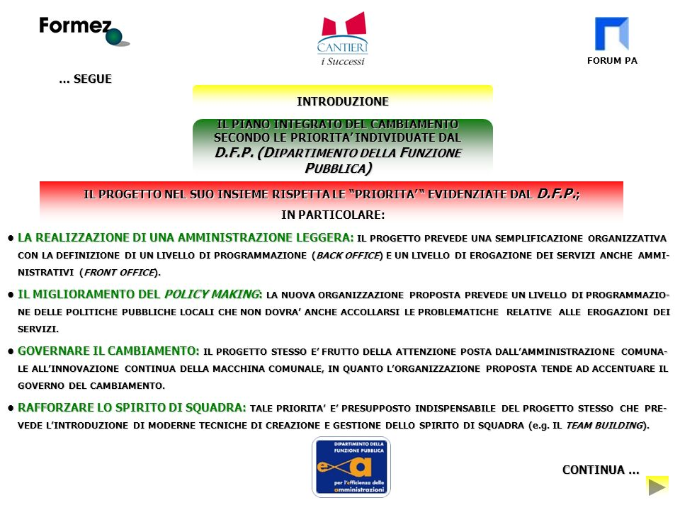 FORUM PA 5.MODALITA DI ATTUAZIONE E GESTIONE S.U.C.I.