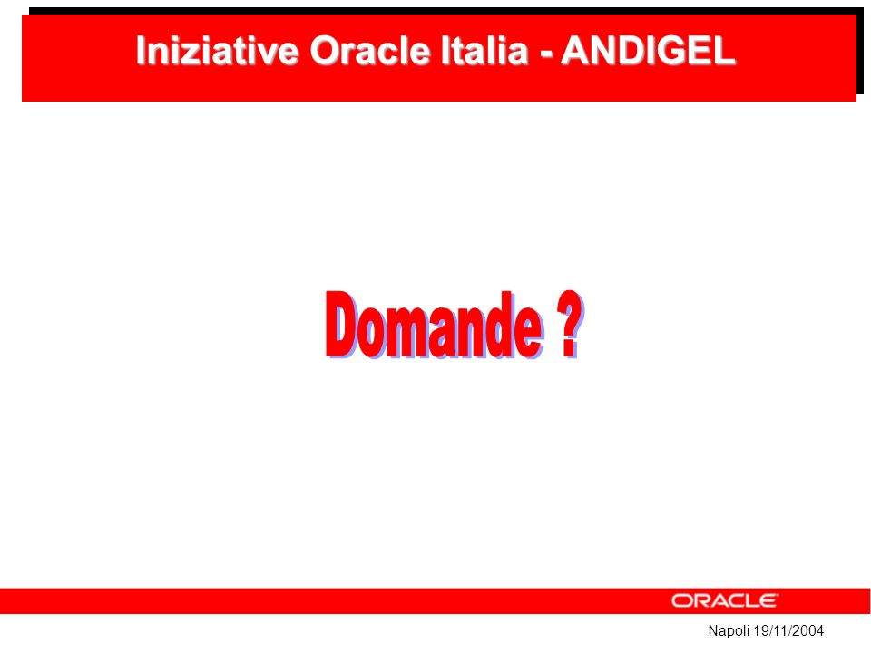 Napoli 19/11/2004 Iniziative Oracle Italia - ANDIGEL