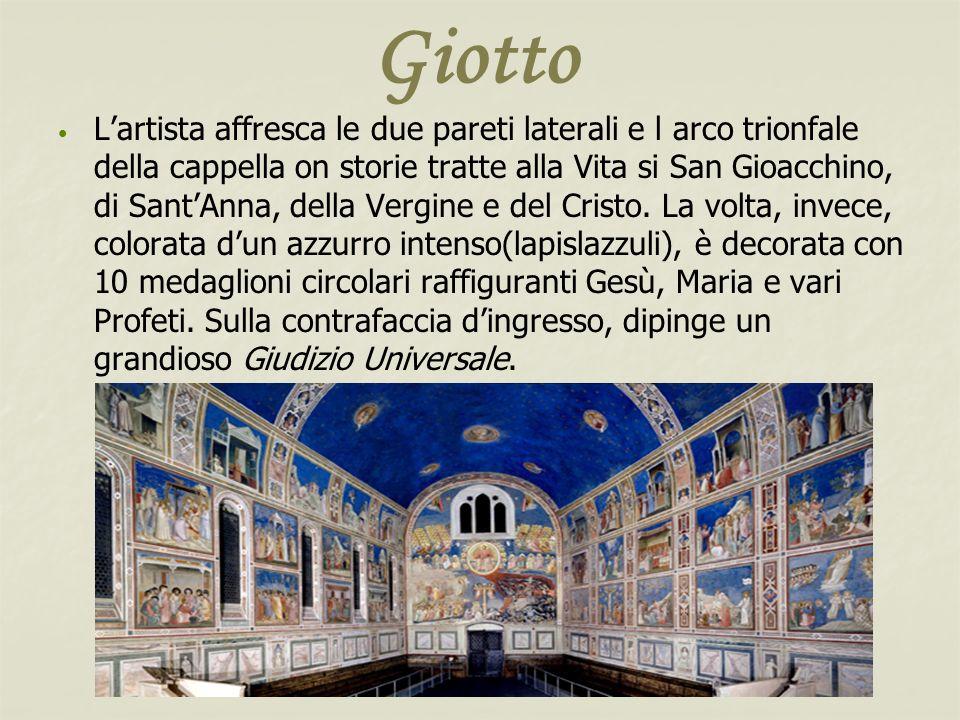 Giotto Lartista affresca le due pareti laterali e l arco trionfale della cappella on storie tratte alla Vita si San Gioacchino, di SantAnna, della Ver