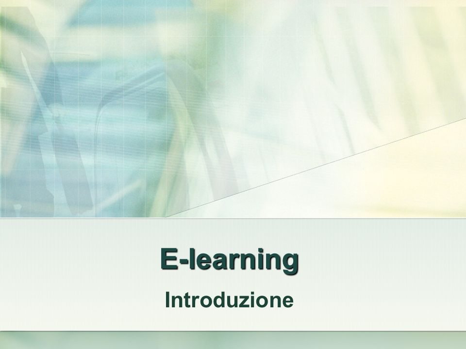 E-learning Introduzione