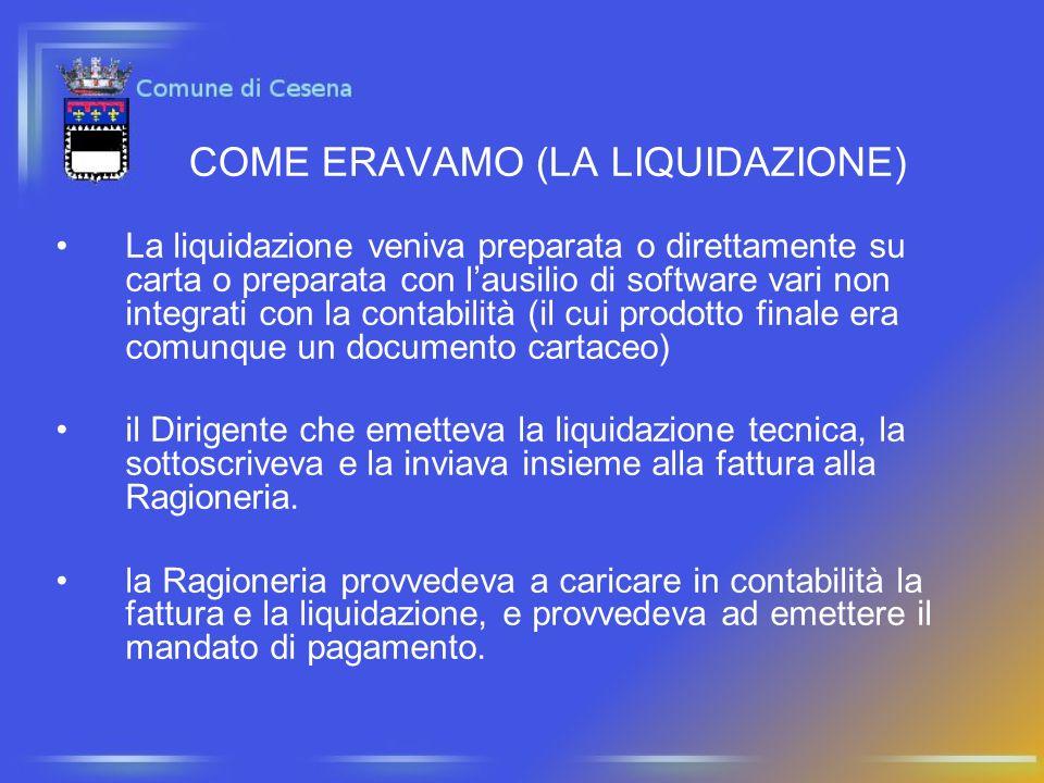 COME ERAVAMO (LA LIQUIDAZIONE) La liquidazione veniva preparata o direttamente su carta o preparata con lausilio di software vari non integrati con la