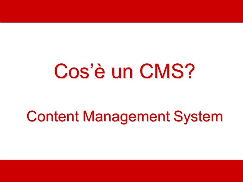 Cosè un CMS? Content Management System