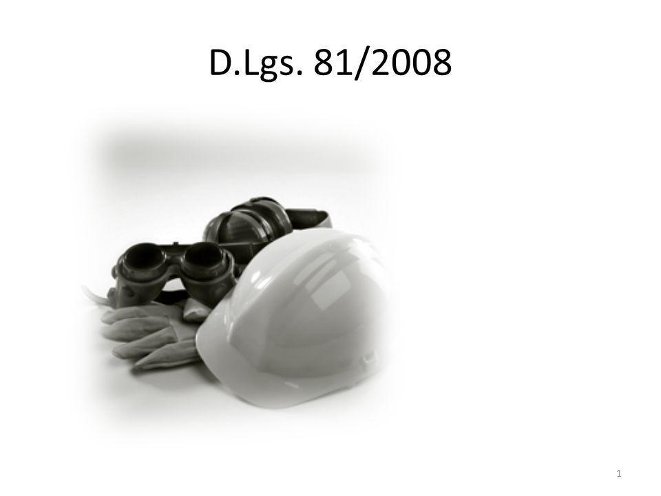 Testo Unico D.Lgs.81/2008 306 articoli e XIII Titoli.