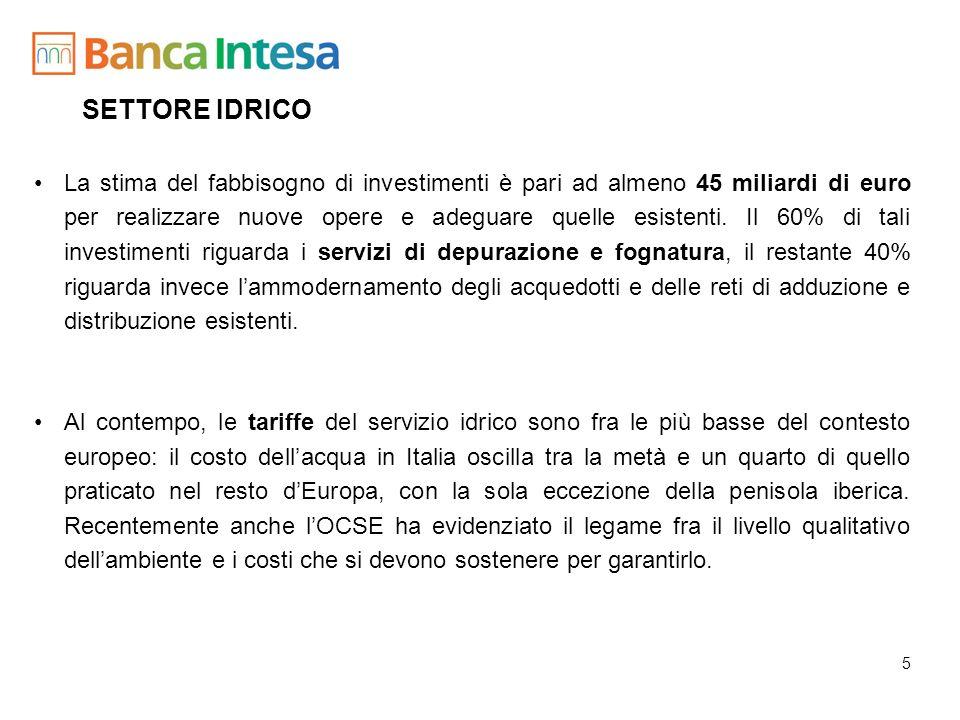 6 SETTORE AMBIENTALE Il 78% dei rifiuti prodotti in Italia (108 milioni di tonnellate anno) finisce attualmente in discarica; lapertura di nuove discariche non è più ammessa mentre le esistenti sono destinate alla chiusura (legge Ronchi).