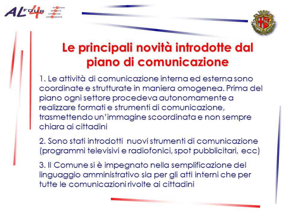 Le principali novità introdotte dal piano di comunicazione 1.