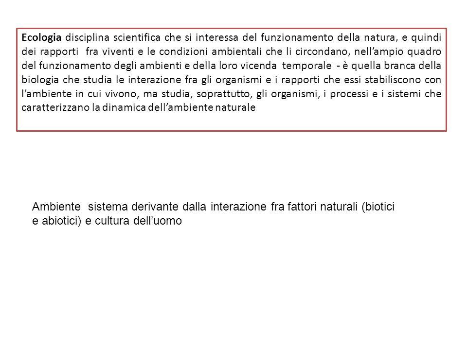 La scienza che studia le relazioni fra i vari organismi e lambiente è l Ecologia Oikos = casa Logos = studio Organismi-----------------------Ambiente relazioni Ecologia
