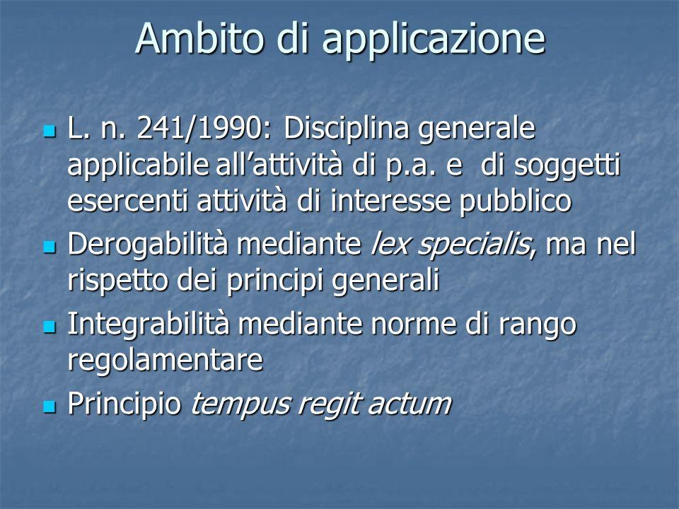 In virtù del principio tempus regit actum, un nuovo regolamento o un atto amministrativo a contenuto generale che disciplina un determinato procedimento trova applicazione anche nei procedimenti iniziati anteriormente alla data di approvazione del provvedimento stesso.