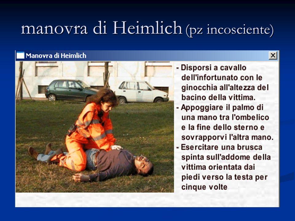 manovra di Heimlich (pz incosciente)