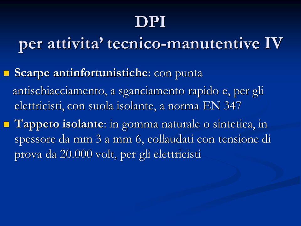 DPI per attivita tecnico-manutentive IV Scarpe antinfortunistiche: con punta Scarpe antinfortunistiche: con punta antischiacciamento, a sganciamento r