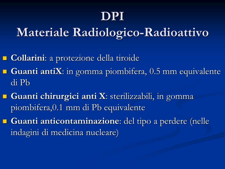 DPI Materiale Radiologico-Radioattivo Collarini: a protezione della tiroide Collarini: a protezione della tiroide Guanti antiX: in gomma piombifera, 0