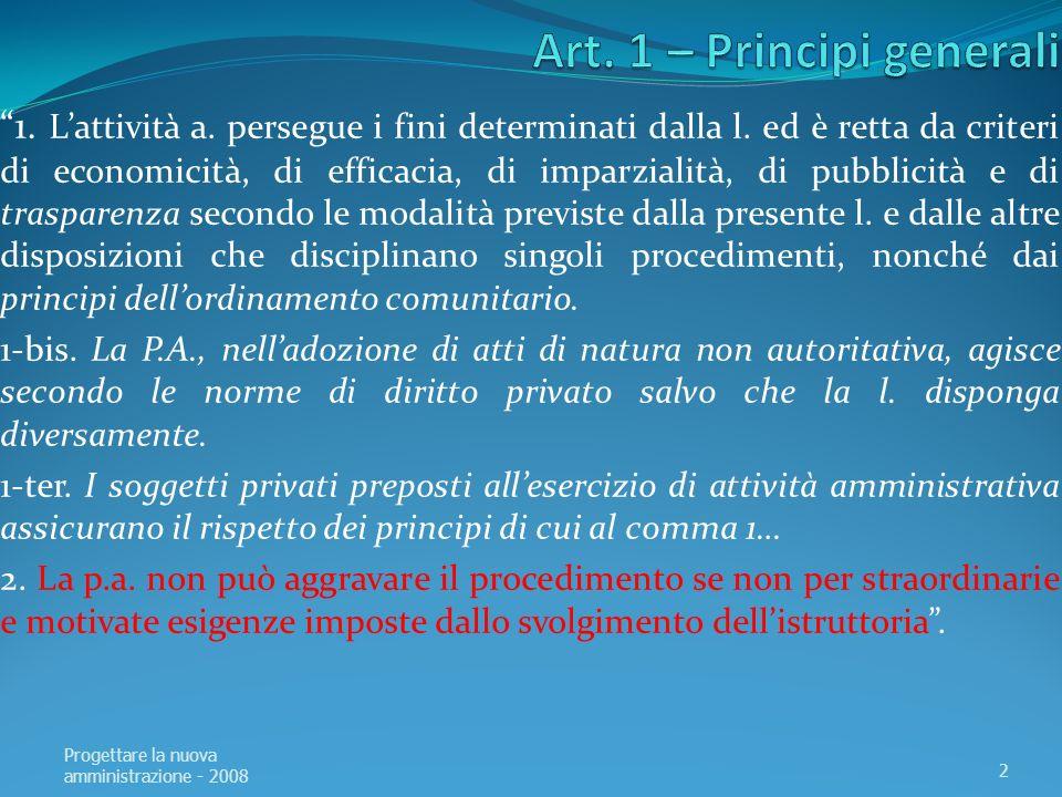 Art.29 - Applicazione della legge 1.