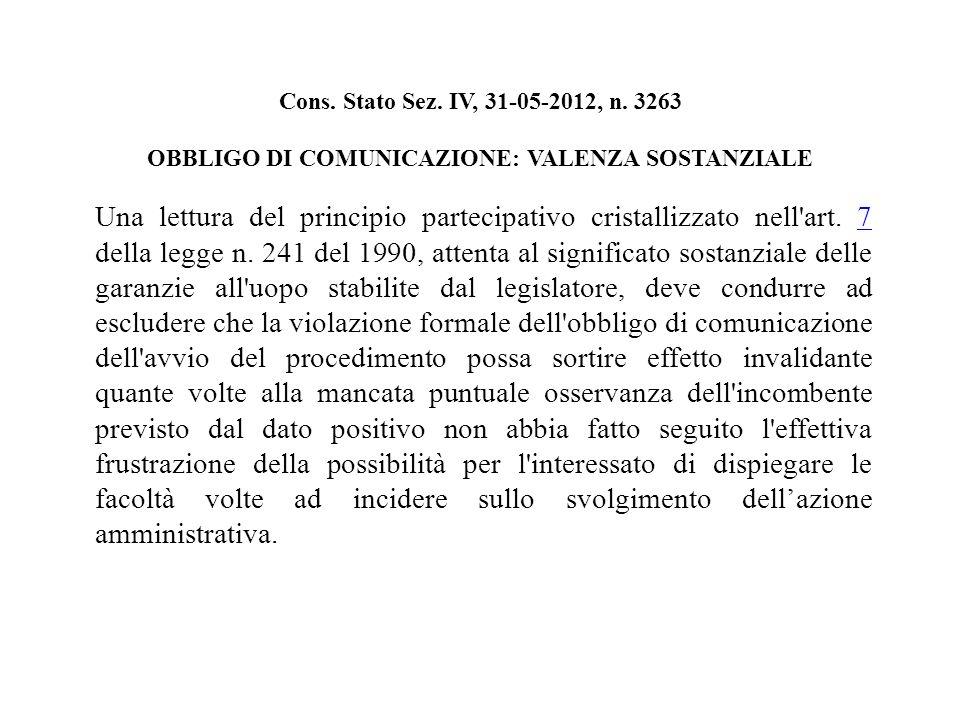 Cons. Stato Sez. IV, 31-05-2012, n.