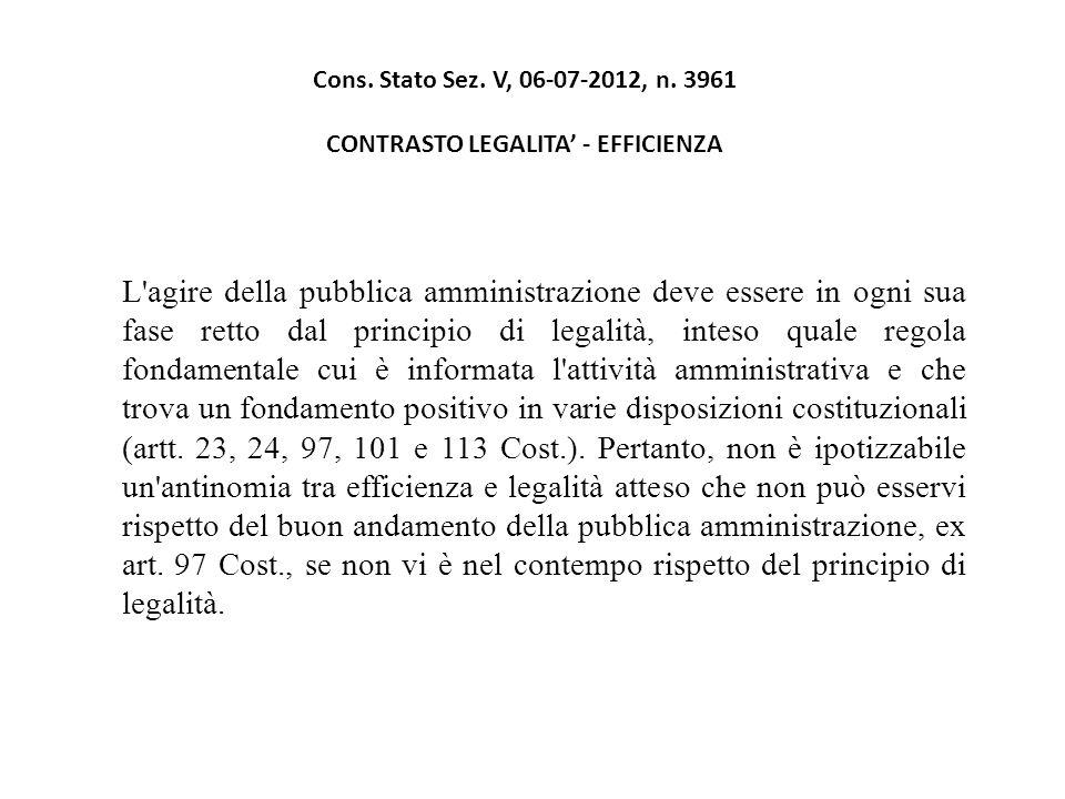 Cons. Stato Sez. V, 06-07-2012, n.