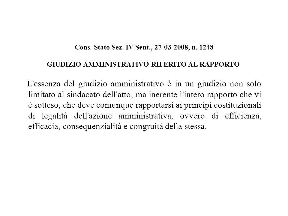 Cons. Stato Sez. IV Sent., 27-03-2008, n.