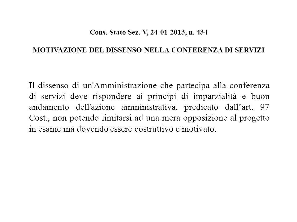 Cons. Stato Sez. V, 24-01-2013, n.