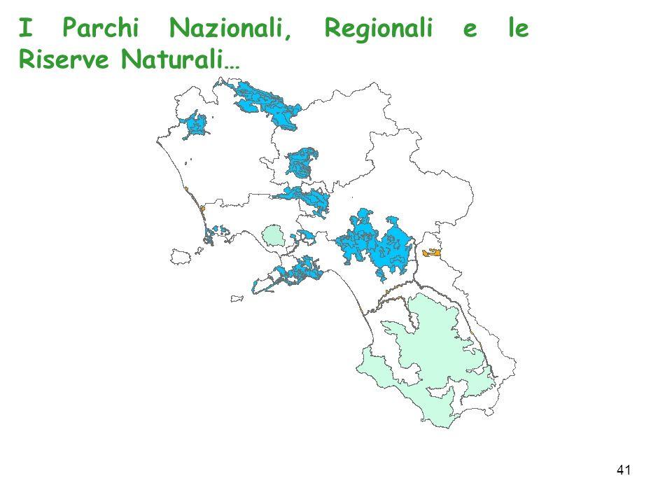 41 I Parchi Nazionali, Regionali e le Riserve Naturali…