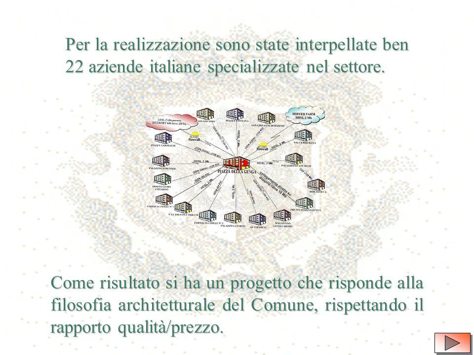 Per dare attuazione agli indirizzi generali di Governo della Amministrazione Brunini in tema di innovazione e riorganizzazione del Comune, nel Settembre 1999 è nata dalla Direzione Generale lidea di rinnovare il Sistema Informativo Comunale (S.I.C.), fino ad allora obsoleto e inconsistente.