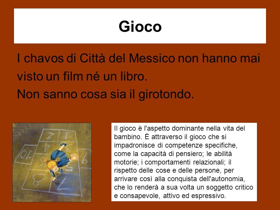 Gioco I chavos di Città del Messico non hanno mai visto un film né un libro.