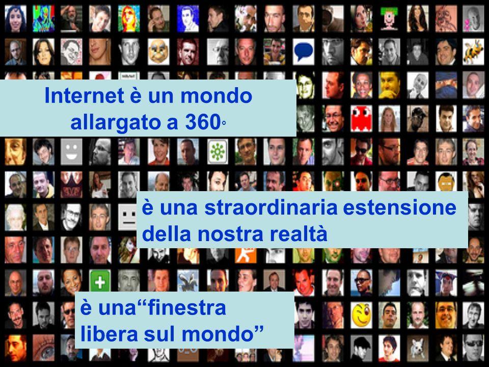 Internet è un mondo allargato a 360 ° è una straordinaria estensione della nostra realtà è unafinestra libera sul mondo