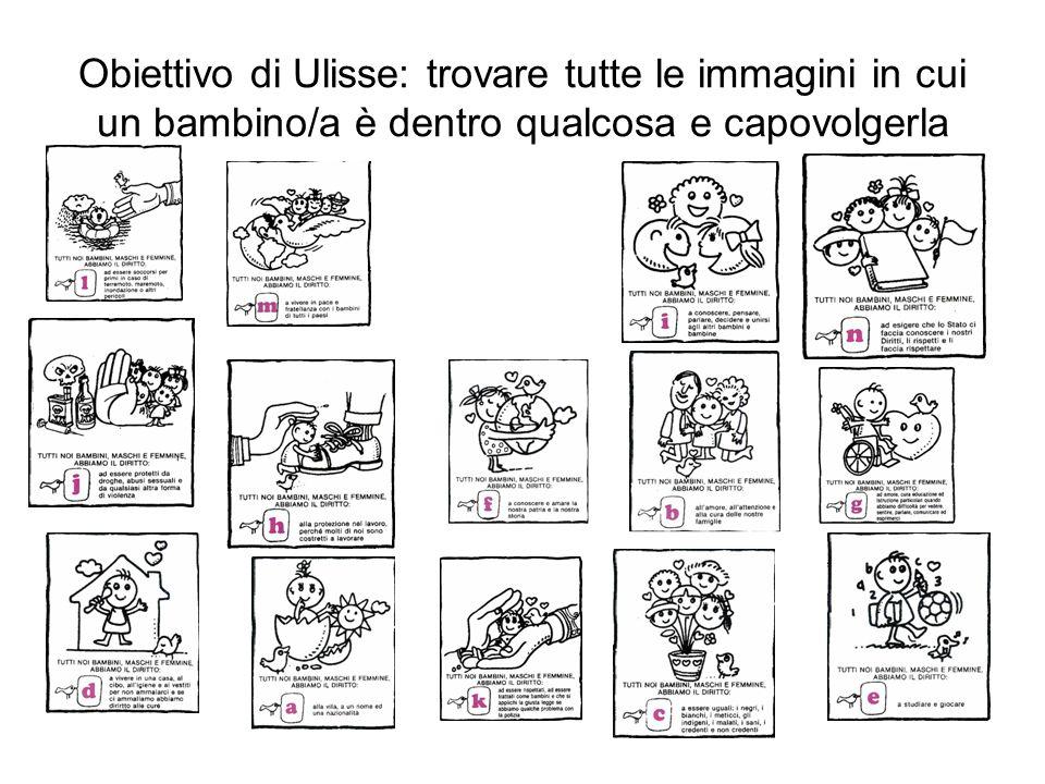 Obiettivo di Ulisse: trovare tutte le immagini in cui un bambino/a è dentro qualcosa e capovolgerla