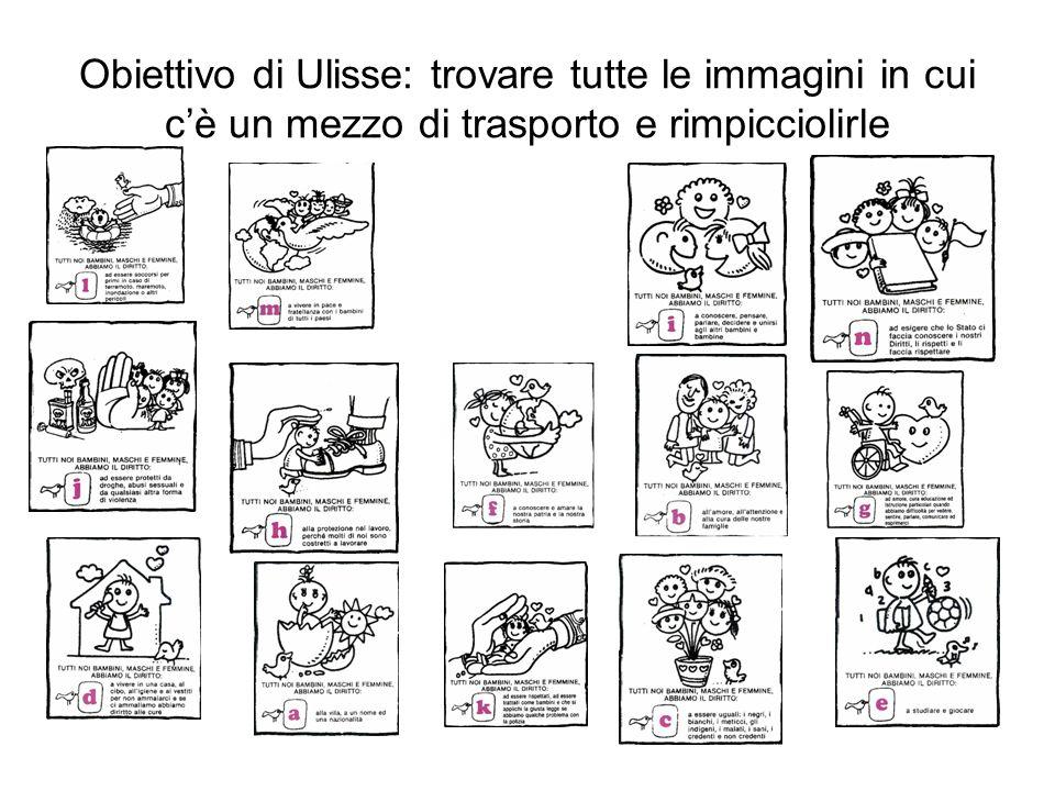 Obiettivo di Ulisse: trovare tutte le immagini in cui cè un mezzo di trasporto e rimpicciolirle