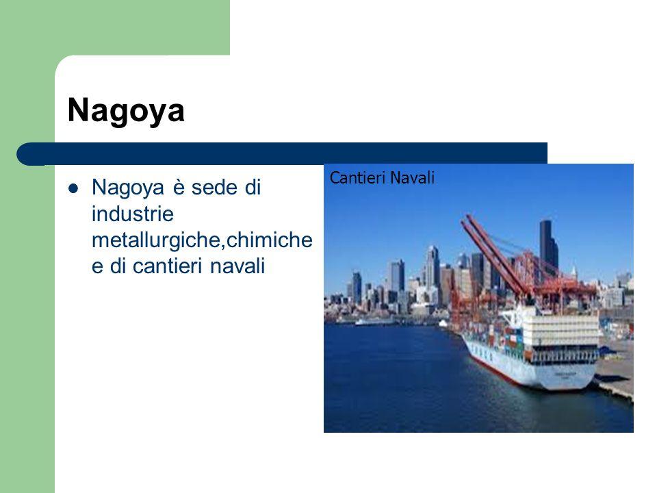 Nagoya Nagoya è sede di industrie metallurgiche,chimiche e di cantieri navali Cantieri Navali