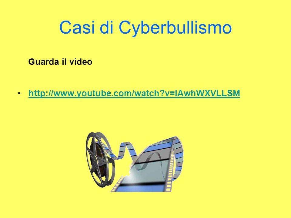 Casi di Cyberbullismo Guarda il video http://www.youtube.com/watch?v=lAwhWXVLLSM