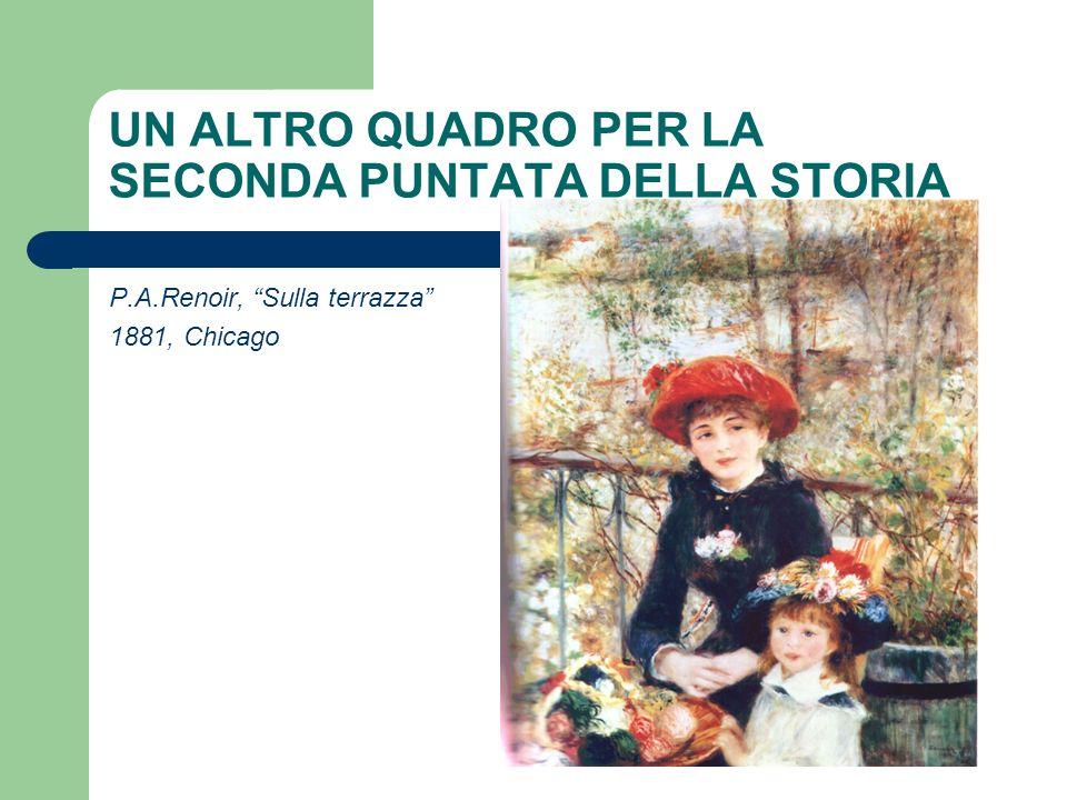 UN ALTRO QUADRO PER LA SECONDA PUNTATA DELLA STORIA P.A.Renoir, Sulla terrazza 1881, Chicago