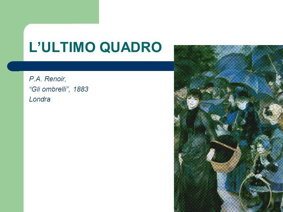 LULTIMO QUADRO P.A. Renoir, Gli ombrelli, 1883 Londra